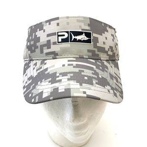 Pelagic Unisex Gray Digital Camo Ambush Premium Visor